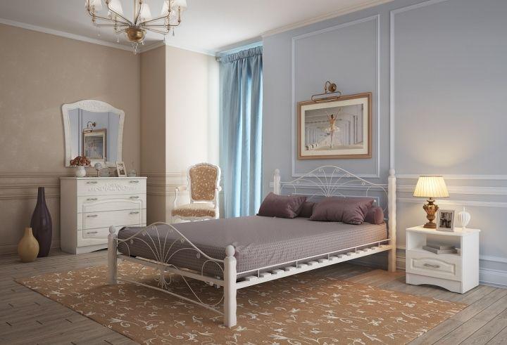Кровать Фортуна 1 белый-белый ГЗМИ