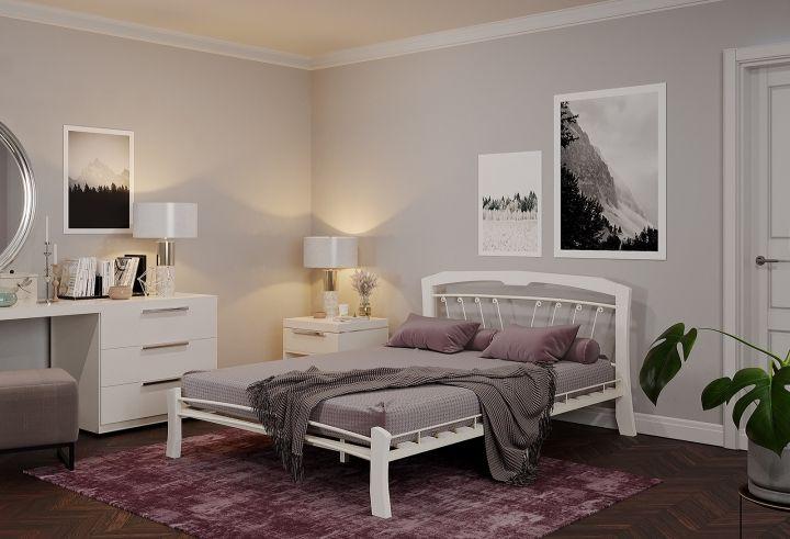 Кровать Муза 4 Лайт белый-белый ГЗМИ