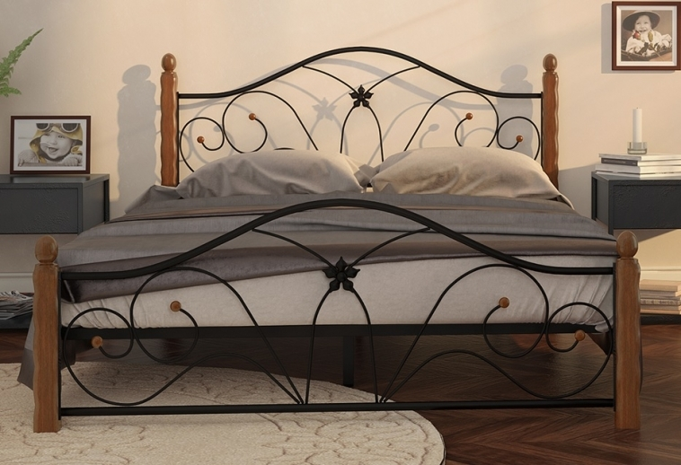 Кровать Селена 1 черный-махагон ГЗМИ