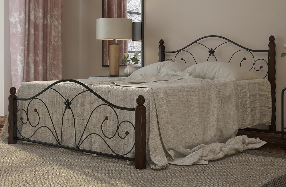 Кровать Селена 1 черный-шоколад ГЗМИ