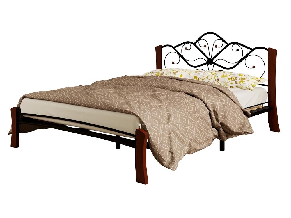 Кровать Венера 4 Лайт черный-махагон ГЗМИ