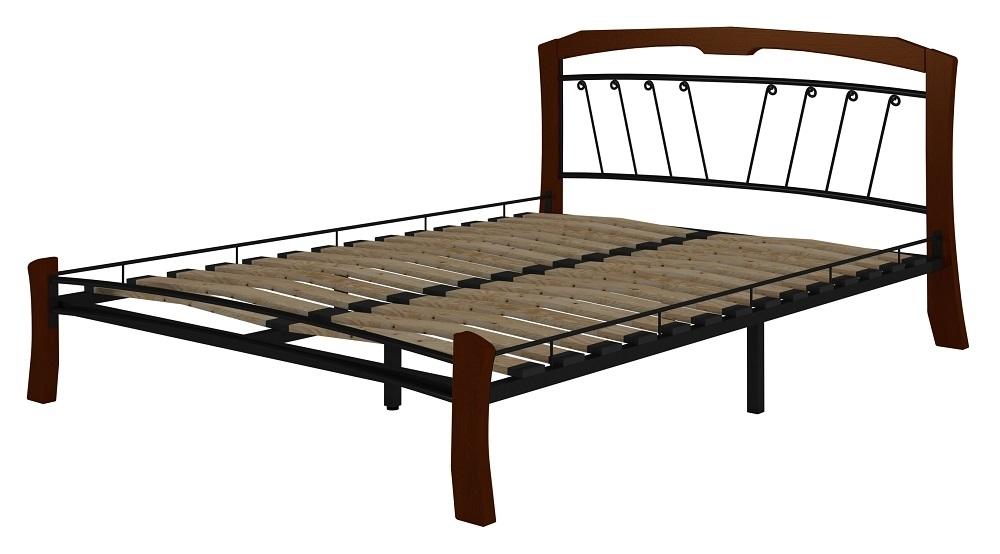 Кровать Муза 4 Лайт черный-махагон ГЗМИ