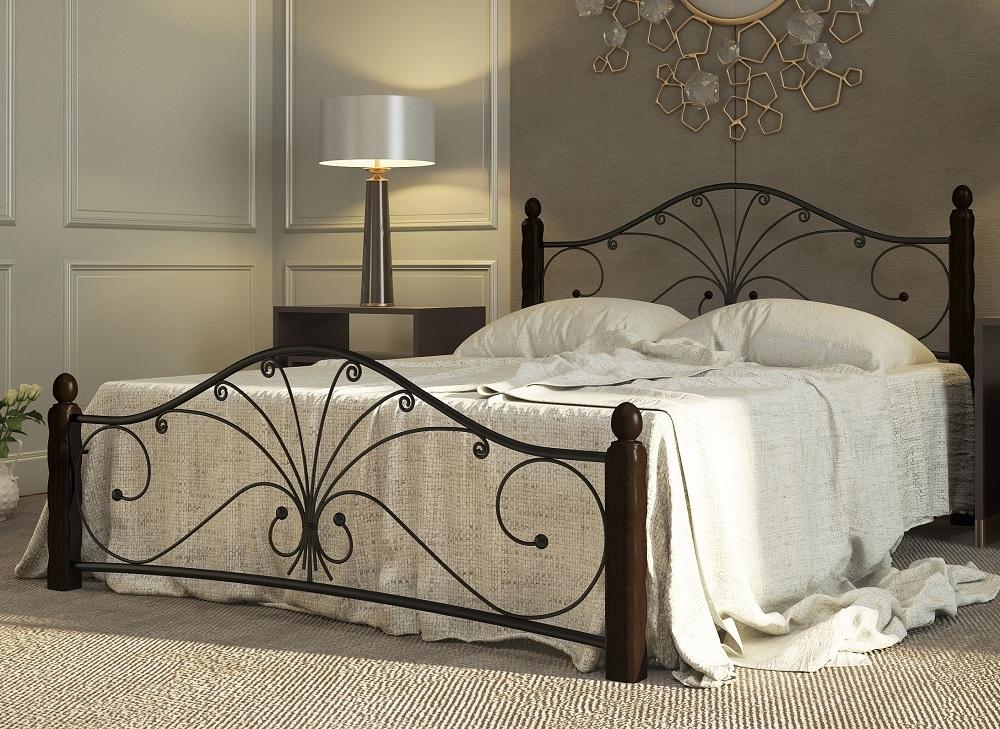 Кровать Фортуна 1 черный-шоколад ГЗМИ