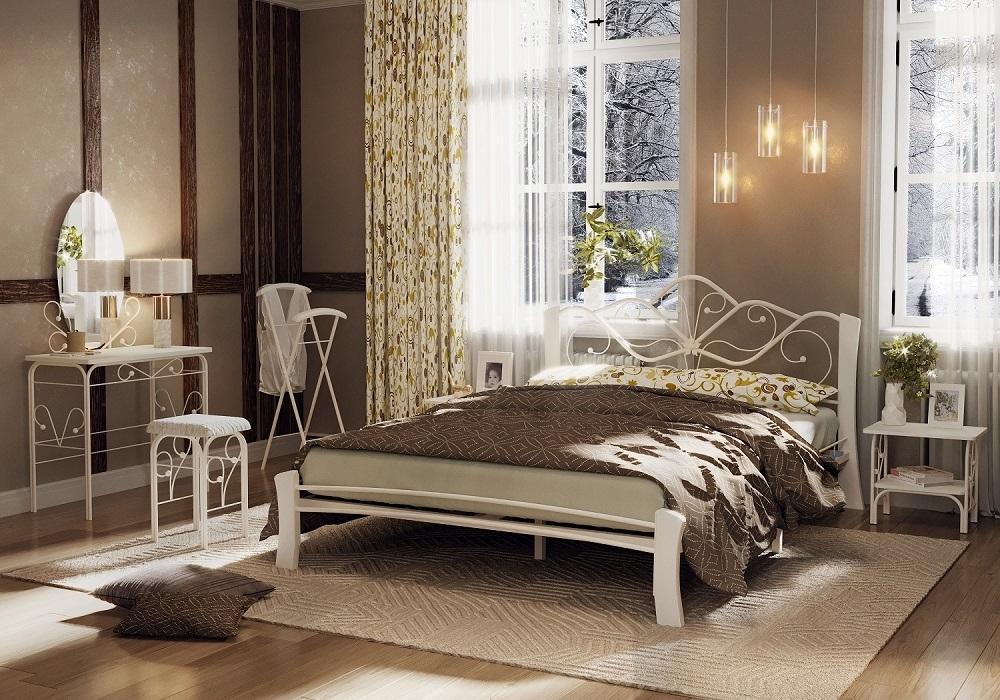 Кровать Венера 4 Лайт белый-белый ГЗМИ