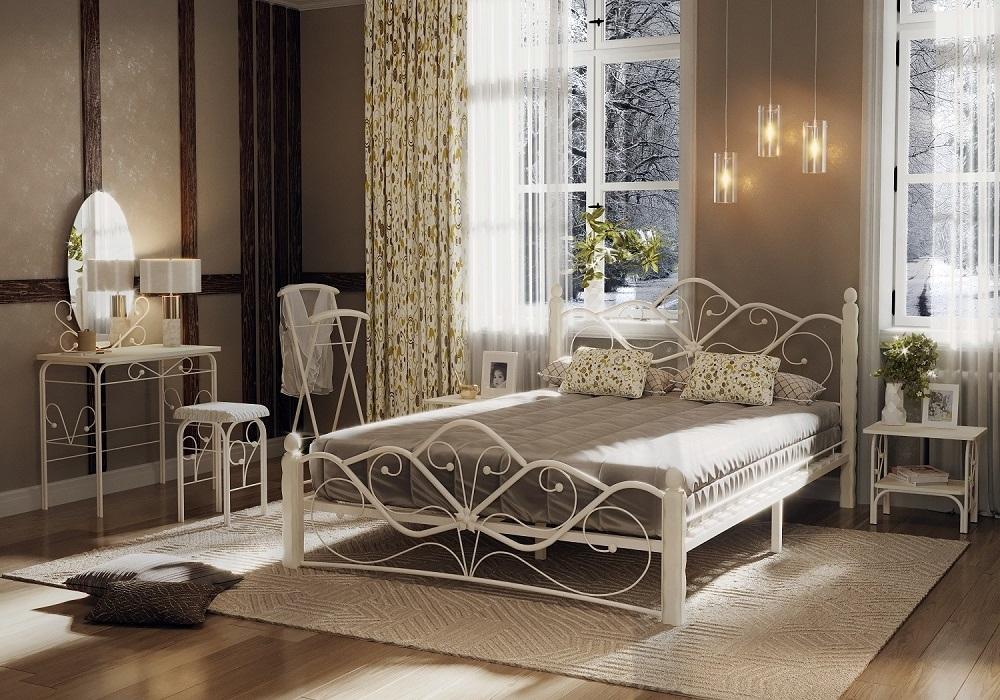 Кровать Венера 1 белый-белый ГЗМИ