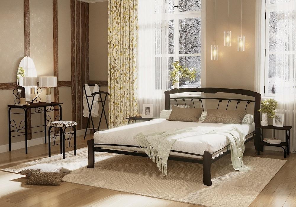 Кровать Муза 4 Лайт черный-шоколад ГЗМИ